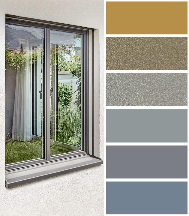 Alufarbe Varianten für die Holz-Metall Fenster von 4B