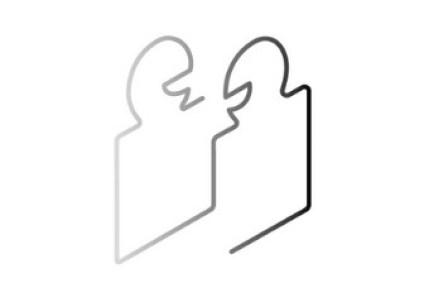 Illustration wir kommunizieren auf Augenhöhe