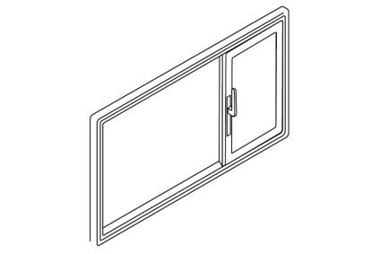 Schiebetür Öffnungsart Asymmetrisch rechts
