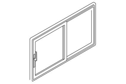 Schiebetür Öffnungsart Symmetrisch