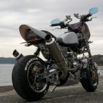 モンキーカスタム ベース車両:モンキー 排気量:124 cc Wディスク、ワンオフツインマフラーの豪華仕様