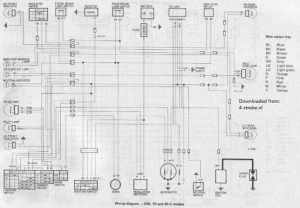 Honda C50 C70 C90C Wiring Schematic  4Stroke  All