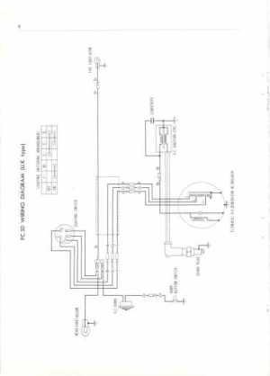 Honda PC50 UK (1968) Wiring Schematic  4Stroke  All
