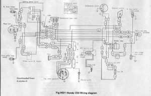 Honda C50 Wiring Schematic  4Stroke  All the data