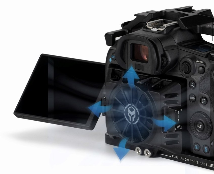 You can now buy Tilta's Canon EOS R5, R6 cooling fan for $165