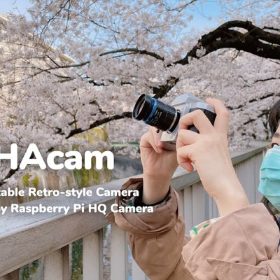 The RUHAcam is a 'retro-style' digital camera made with the Raspberry Pi HQ Camera module