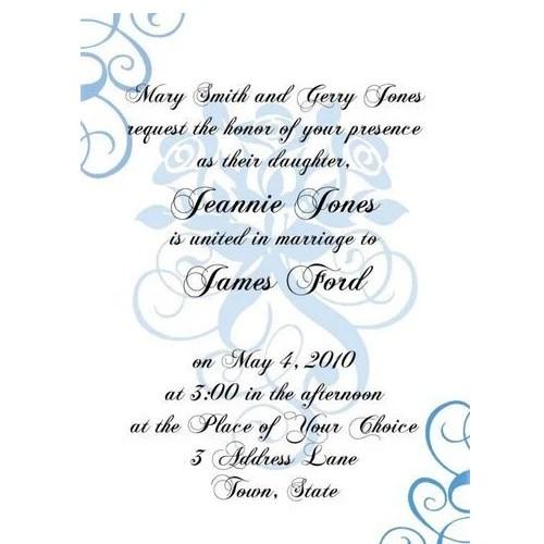 Formal Invitation Card Paperinvite