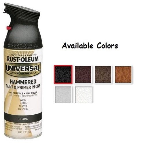 Rustoleum spray paint colors hammered home painting Black metal spray paint