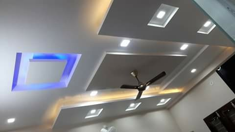 Gypsum suspended ceiling designs for Gips decor ceiling