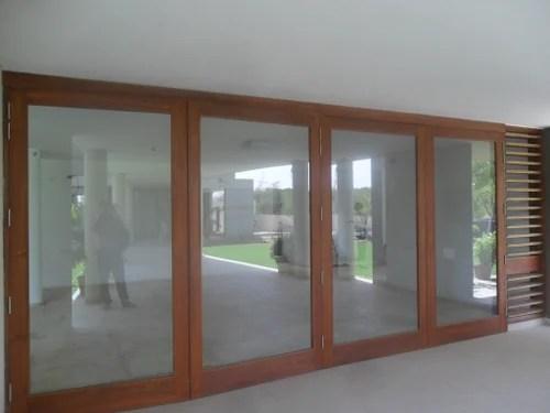 glass wooden frame door sliding folding