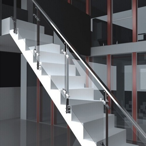 Stainless Steel Glass Railing At Rs 1200 Square Feet S | Steel Railing With Glass For Stairs