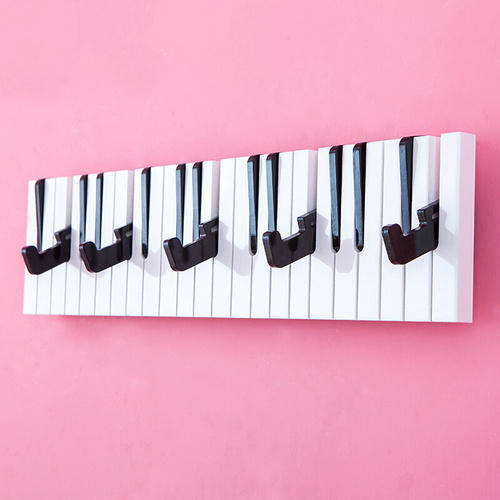 Stainless Steel Piano Wall Hook Set Wall Shelves