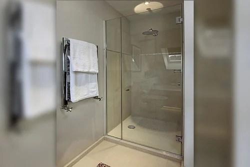 Bathroom Shower Glass Parttion Saint Gobain Shower Partition Manufacturer From Chennai