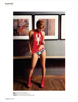 Regina Murguia Murguia sexy lenceria Revista Open Febrero 2015