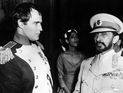Marlon Brando and Haile Selassie
