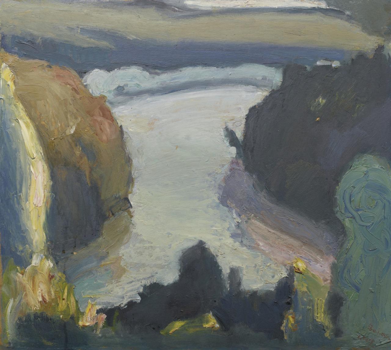 thunderstruck9:  Georgios Bouzianis (Greek, 1885-1959), Landscape. Oil on board, 59 x 66.5 cm.