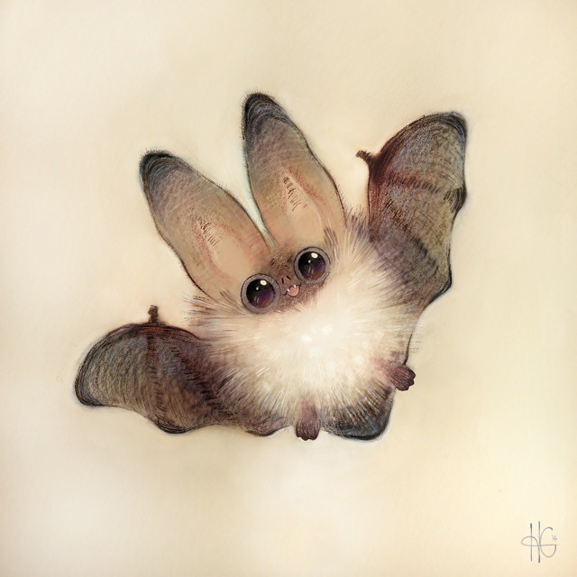 Gross, Heather. Fluffy Bat. 2014. Heather's Sketches. Tumblr: Healther's Sketcheroos. Accessed: 24 March 2015. Creative Commons v.4.0