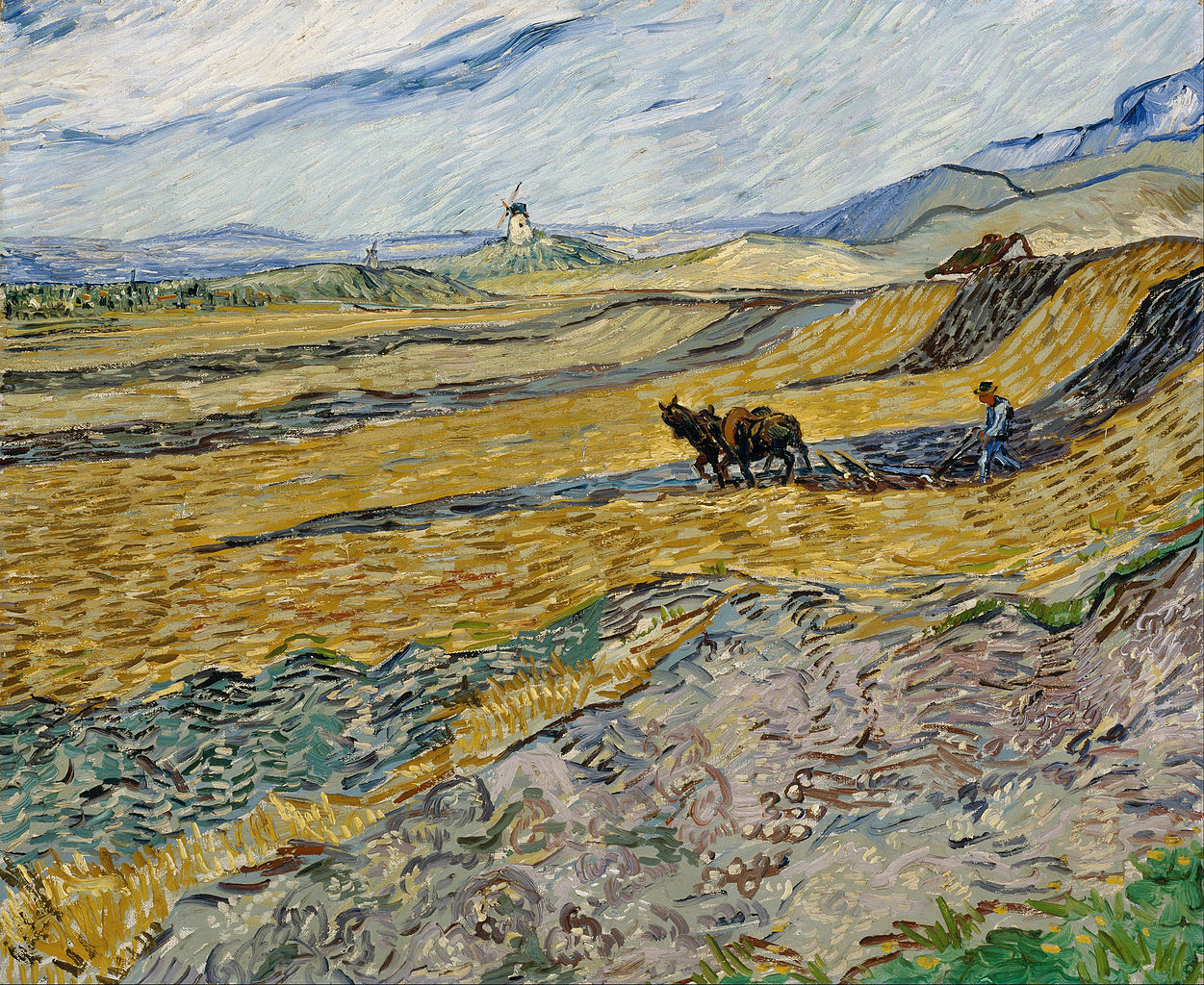 urgetocreate:  Vincent Van Gogh, Enclosed Field With Ploughman, 1889