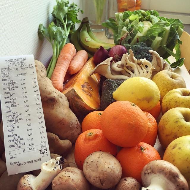 La ferme du samedi: 24 euros la semaine #vegan #organic #toutbio #vegporn