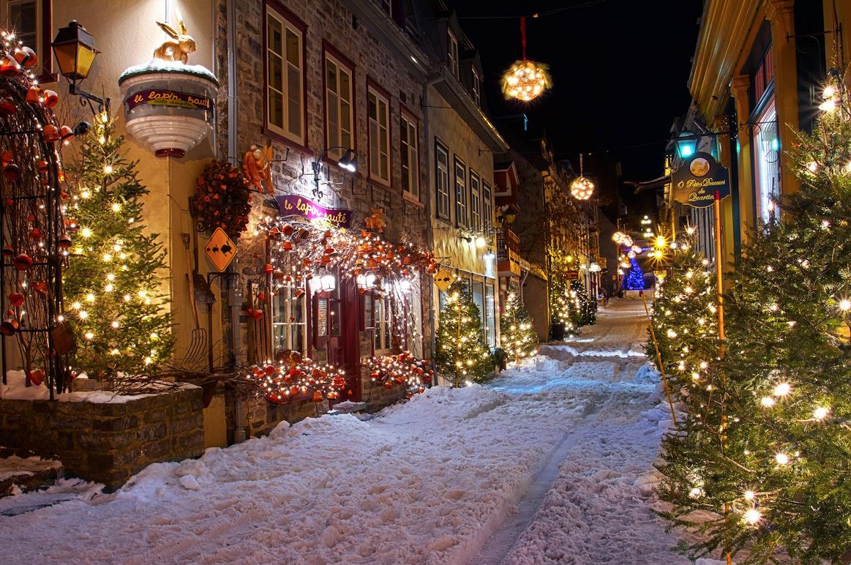Christmas Winter Landscape History Canada Quebec Nubbsgalore