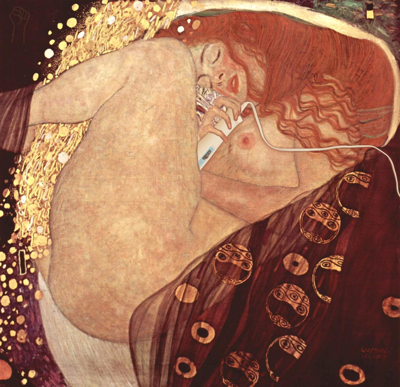 Danae with Magic Wand by Gustav Klimt.