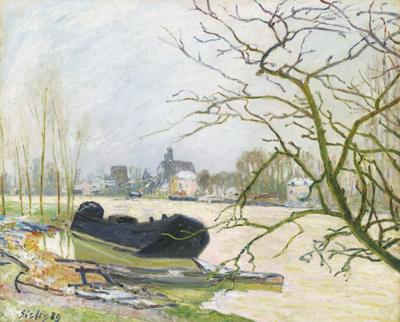 thunderstruck9:  Alfred Sisley (French, 1839-1899), La crue du Loing à Moret [Flooding of the Loing at Moret], 1889. Oil on canvas, 59.9 x 73 cm.