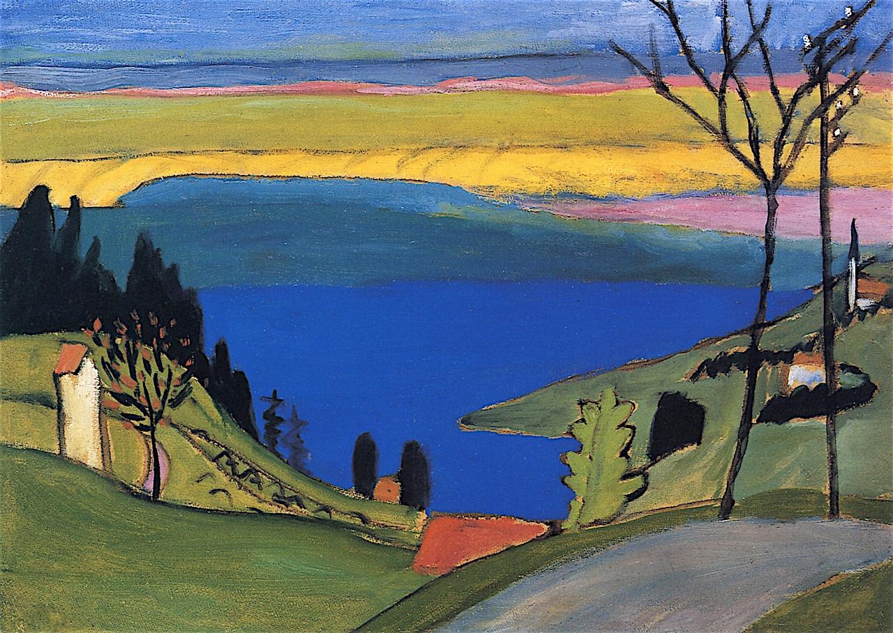 lawrenceleemagnuson:  Gabriele Münter (Germany 1877-1962)Study for Blauen See (1913-1914)oil on baord 48.5 x 67.6