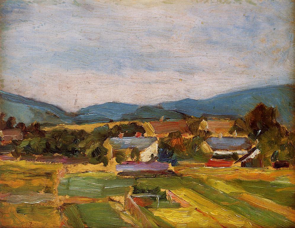 egonschiele-art:  Landscape in Lower Austria, 1907 Egon Schiele