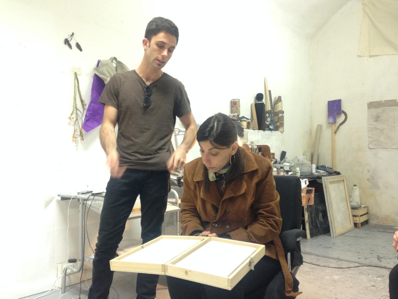 22.05.2015 Andrea Carpita, studio visit
