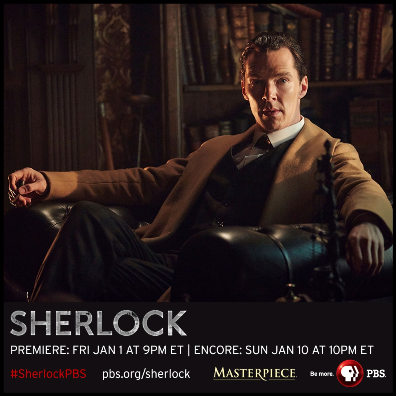 pbstv:  As Thanksgiving draws near we're thankful for these NEW Sherlock photos!   Get a closer look at the upcoming special – portraits, behind-the-scenes and more at PBS.org/Sherlock  xxhttp://www.denofgeek.com/tv/sherlock/37949/sherlock-benedict-cumberbatch-on-the-abominable-bride (full round table) Benedict Cumberbatch chats about taking his Sherlock Holmes back to the  Victorian era in the Sherlock Special, The Abominable Bride…Back in February of this year, details on the Sherlock  Christmas Special were thinner on the ground than incriminating  footprints after heavy rain. We had no title, trailer or synopsis for  the Victorian-set episode, just a single image of Benedict Cumberbatch  and Martin Freeman decked out in nineteenth-century clobber.Armed with only that, it was the task of a group of journalists  visiting the set to turn detective and find out what could be deduced  about the Special. Facing cast and creators well-used to the ducks and  dives of interviews able to reveal almost nothing, below are the results  of a rapid-fire interrogation of Benedict Cumberbatch…How did you respond when they said they wanted to do a Victorian Holmes?I was thrilled! I went, at last, I can have a fucking  haircut [laughter] I can slick it back and not have that ridiculous mop  of curls on my head. And then I went you're mad, what?The first pitch was quite light. It was at the end of the third  episode of the last season and I genuinely didn't understand how they  were going to get away with it. And then the more detailed pitch came  when they were talking about series four as well and I went, okay, this  is going to be great fun. And it really is.It's so nice to play him in his era. The things that are slightly  more heavy-lifting in the modern era in that there's a man clearly  slightly out of his time, it's put him back in the era that he's written  in originally, it's a joy. It feels easier to a degree. It's just  things that I tried to impose a little bit on our 