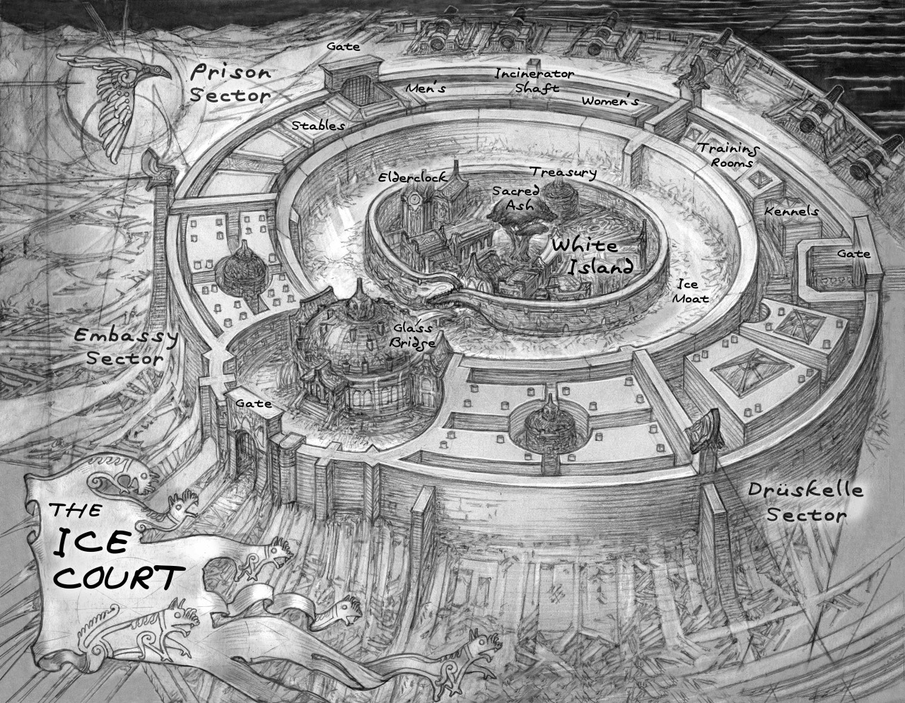 Image result for map in six of crows book