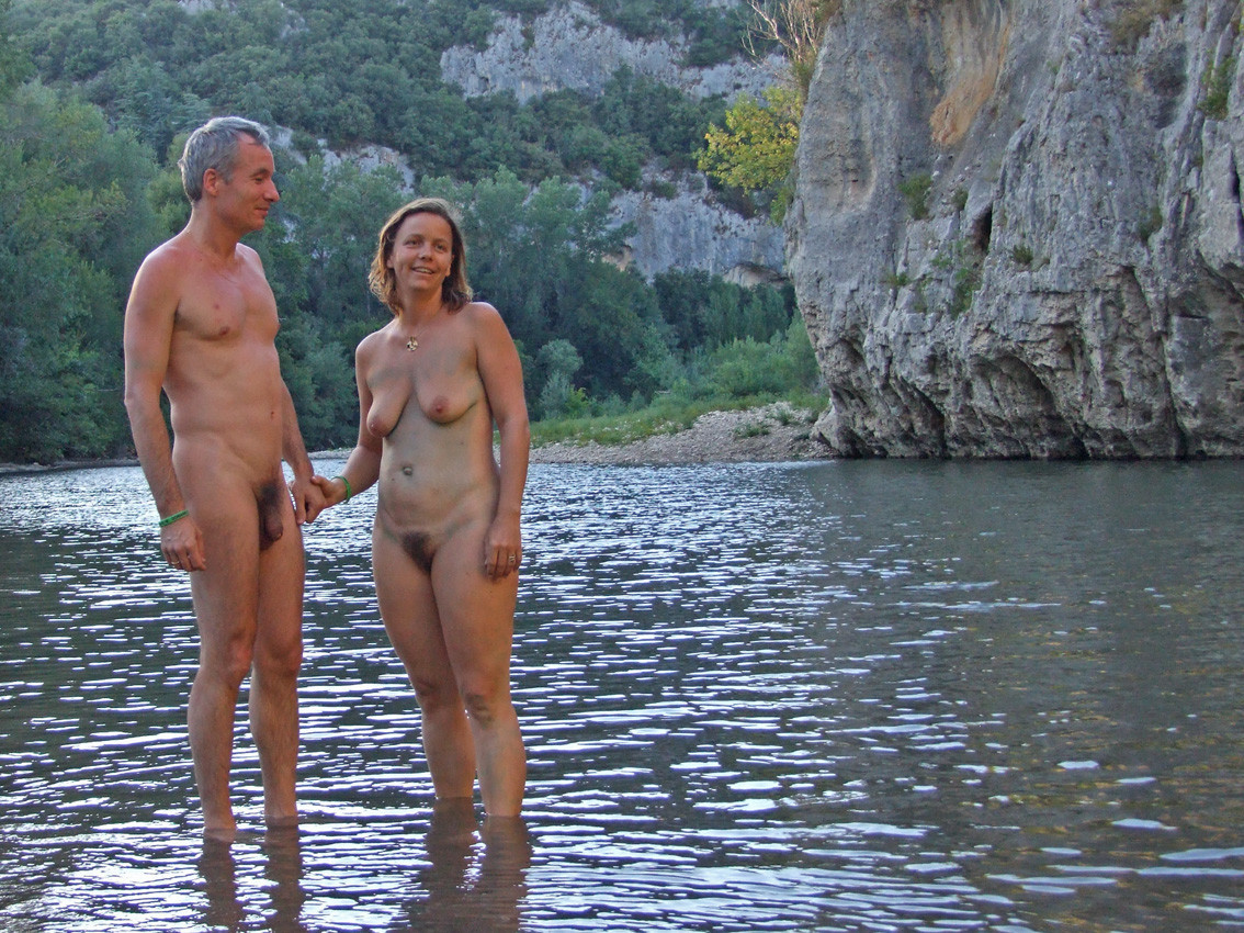 couples outdoors Nudist fucking