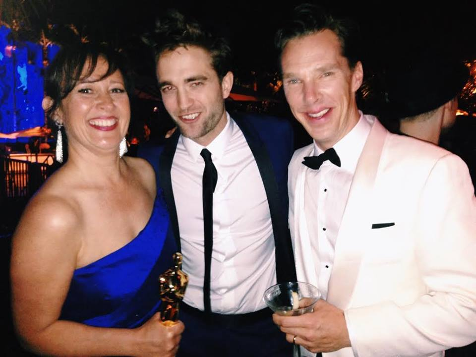 Ron DiamondKristina Reed, Robert Pattinson with Benedict Cumberbatch at the Vanity Fair Party, 2015.