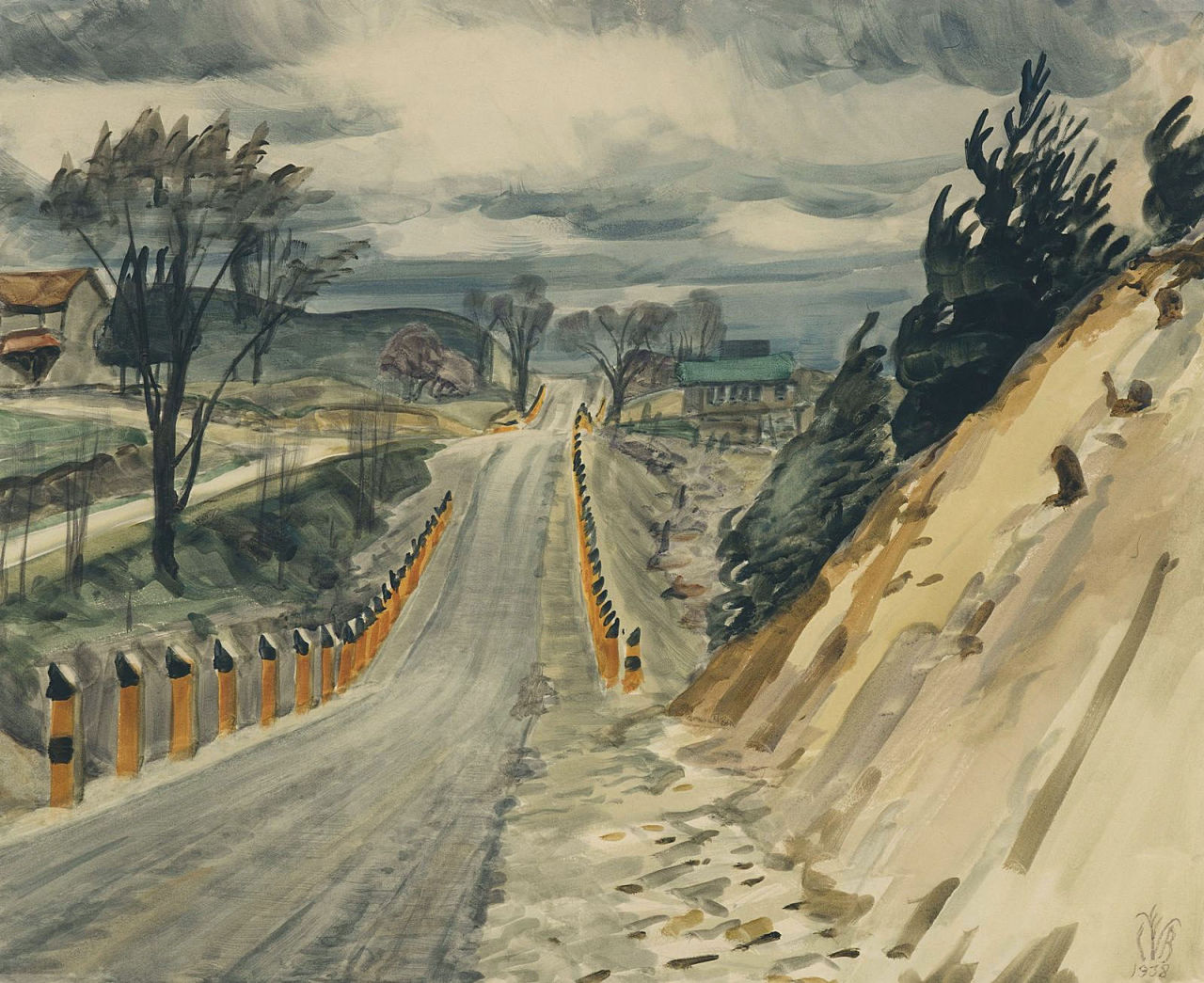 dappledwithshadow:  Road In Early Spring, Charles Burchfield  1938