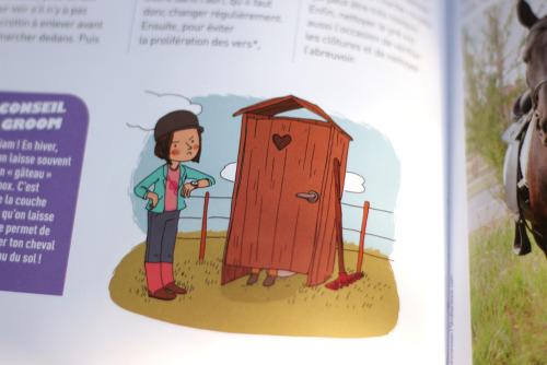 Passion cheval, 2012Bayard, illustrations didactiques de Nancy Pena.