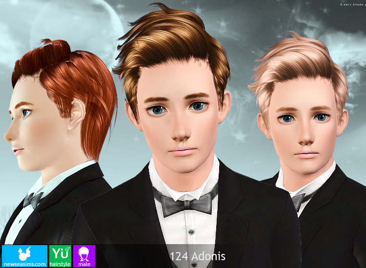 Sims 3 Hair Resource Newsea 124 Adonis Yu Male All