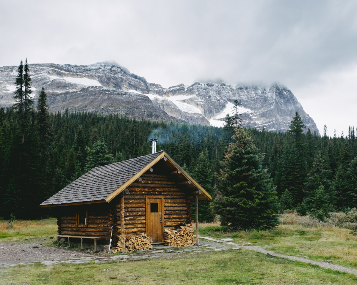 Elizabeth Parker Hut, Yoho National Park, British Columbia.  Photo by Emanuel Smedbøl.