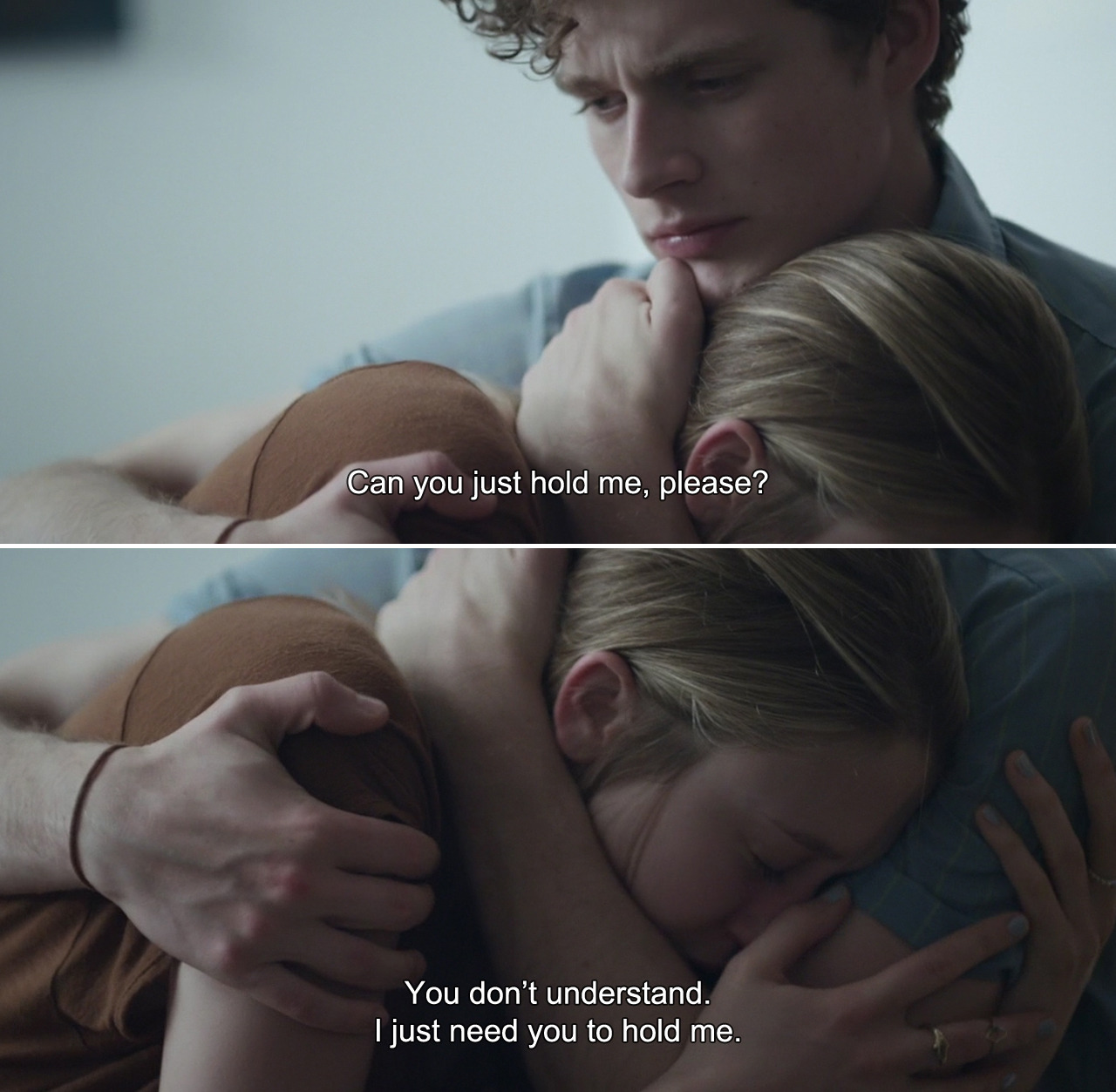 anamorphosis-and-isolate:  ― 6 Years (2015)Melanie: Can you just hold me, please? You don't understand. I just need you to hold me.