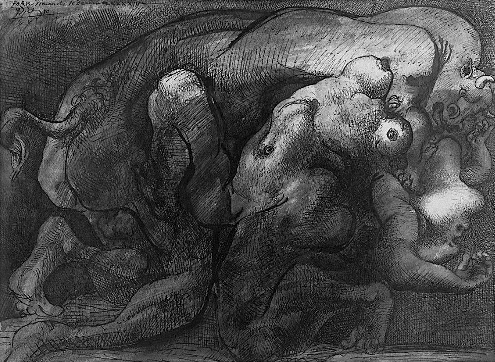 Pablo Picasso - Taureau et Femme - 1933