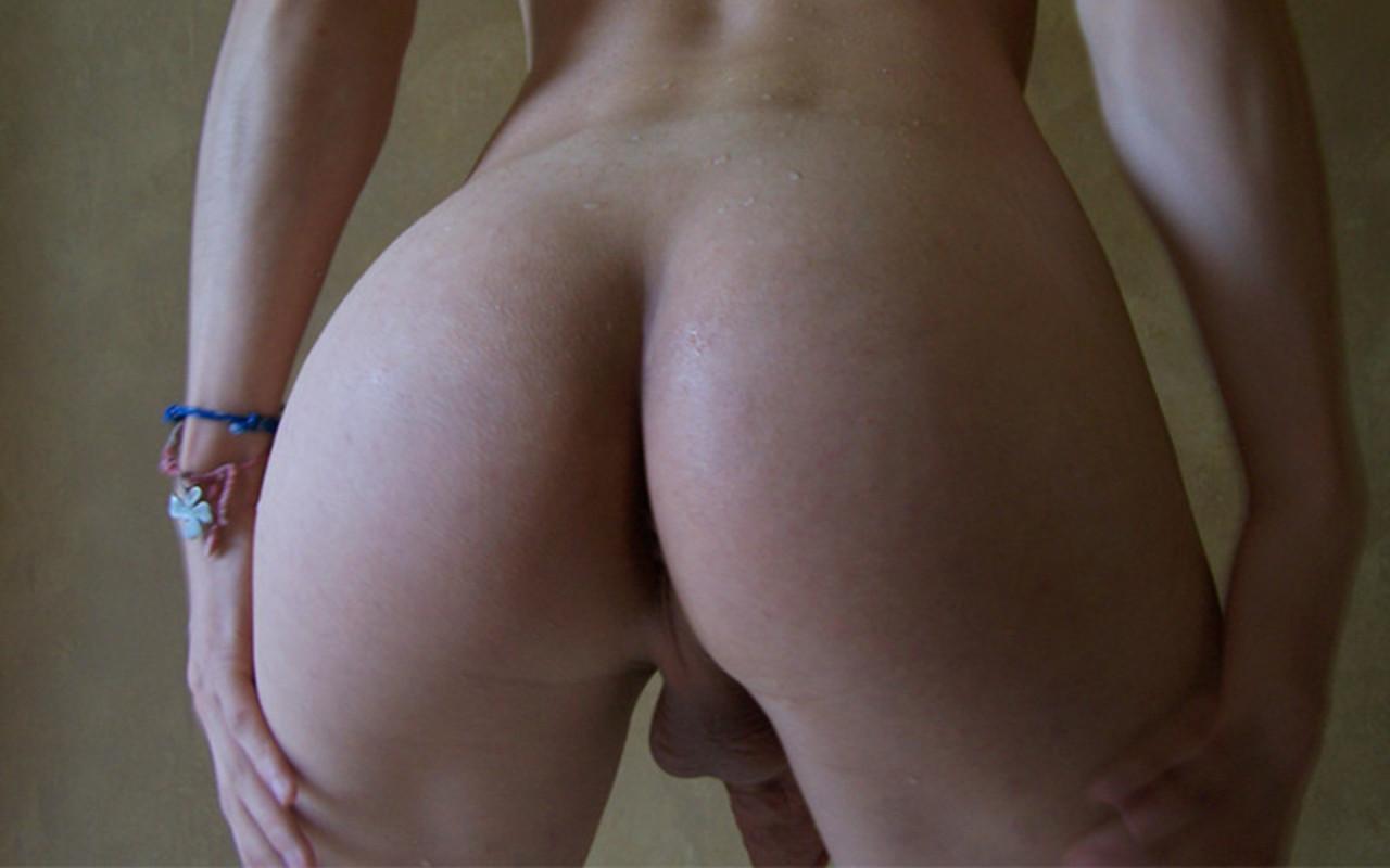 Perfect ass showered with jizz
