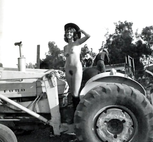 down on the farm. but can she double-clutch?