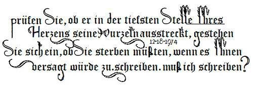 Rilkes Text von Lady Gagas Tattoo