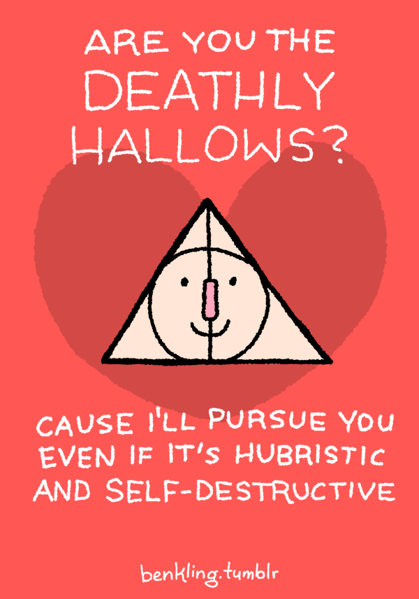 harry potter LOL Illustration deathly hallows puns ...