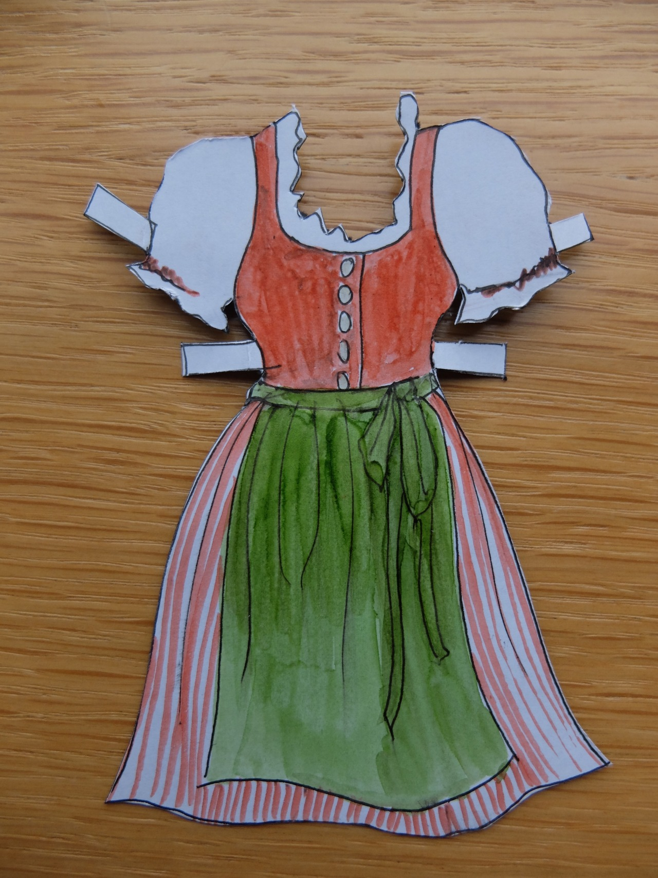 mangia minga // 'birthday voucher for a home-sewn Dirndl'