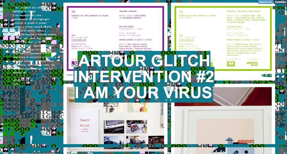 Artour Glitch, Intervention #2 I am your virus, 2015 | Massa Carrara Ipotenusa. Una mostra irrealizzabile