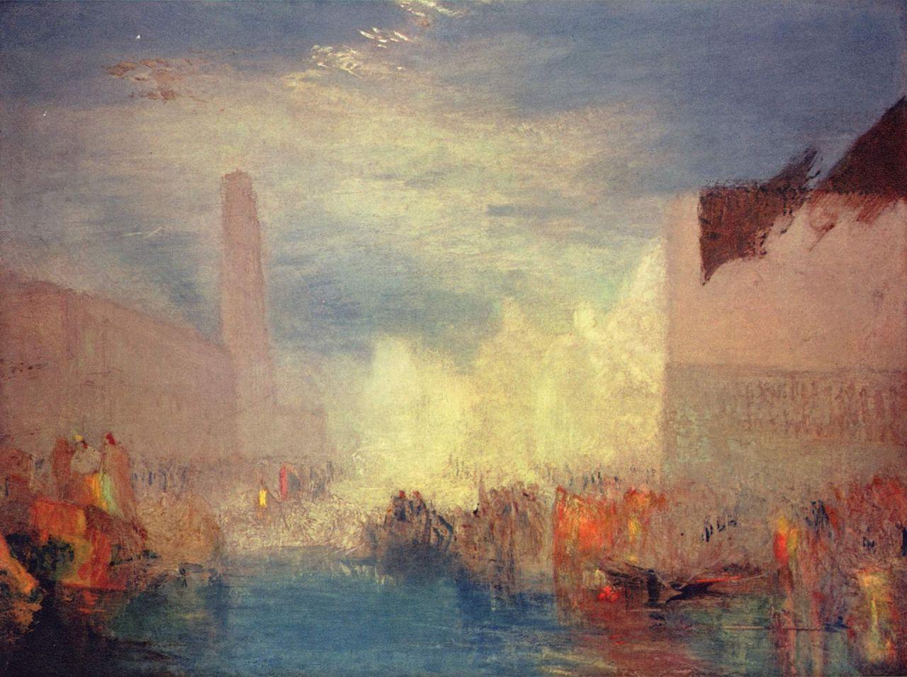 urgetocreate:  J. M. W. Turner, Venice, oil on canvas