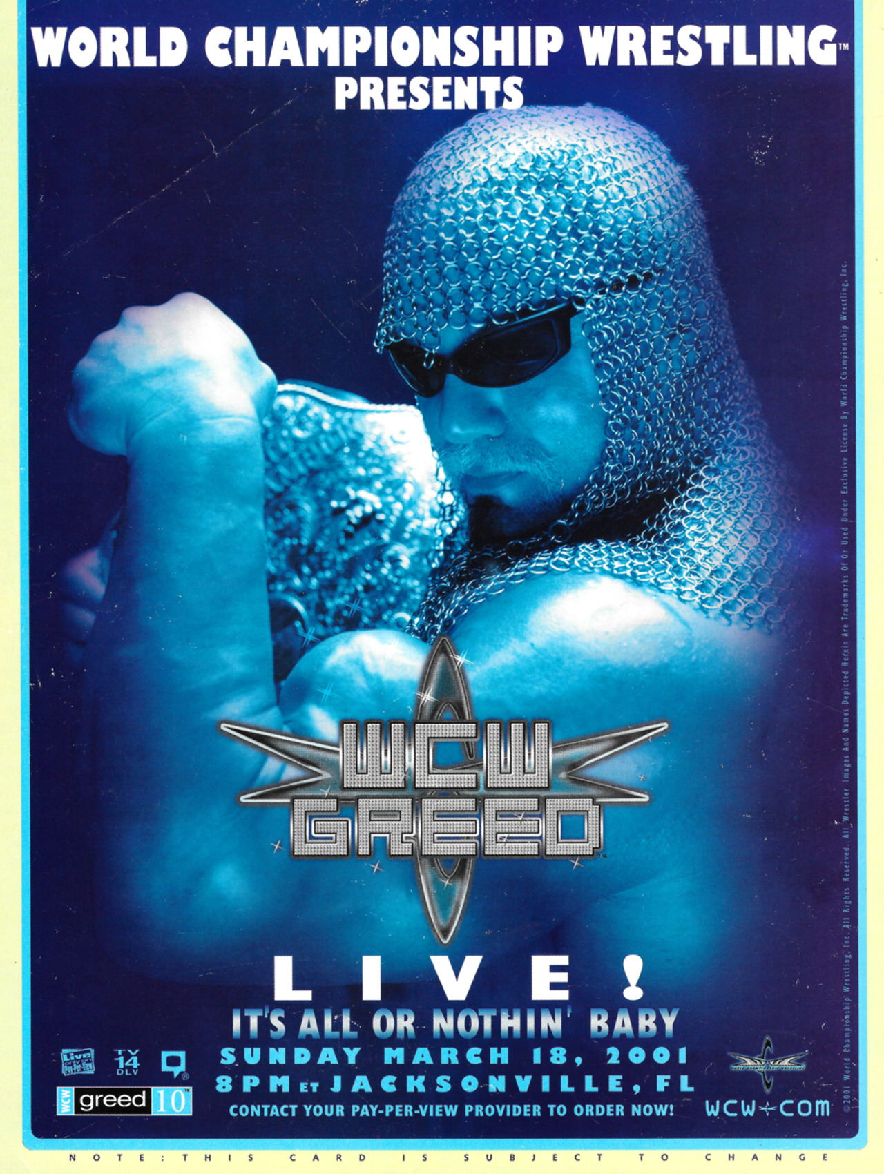 Image result for wcw greed poster