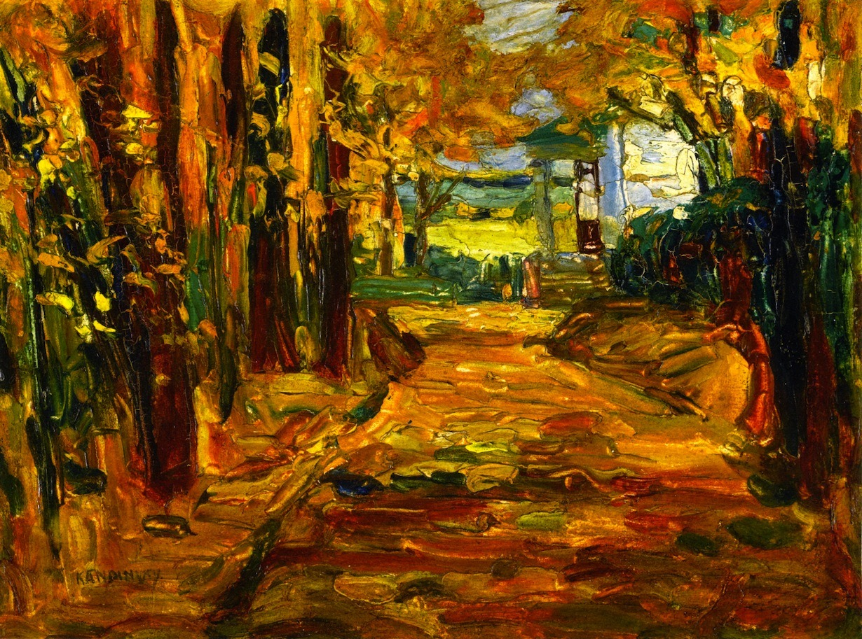 artishardgr: Wassily Kandinsky - Park of St. Cloud, Autumn 1906