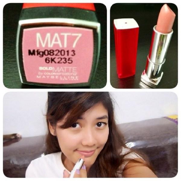 Maybelline Colorsensational Bold Matte in MAT7
