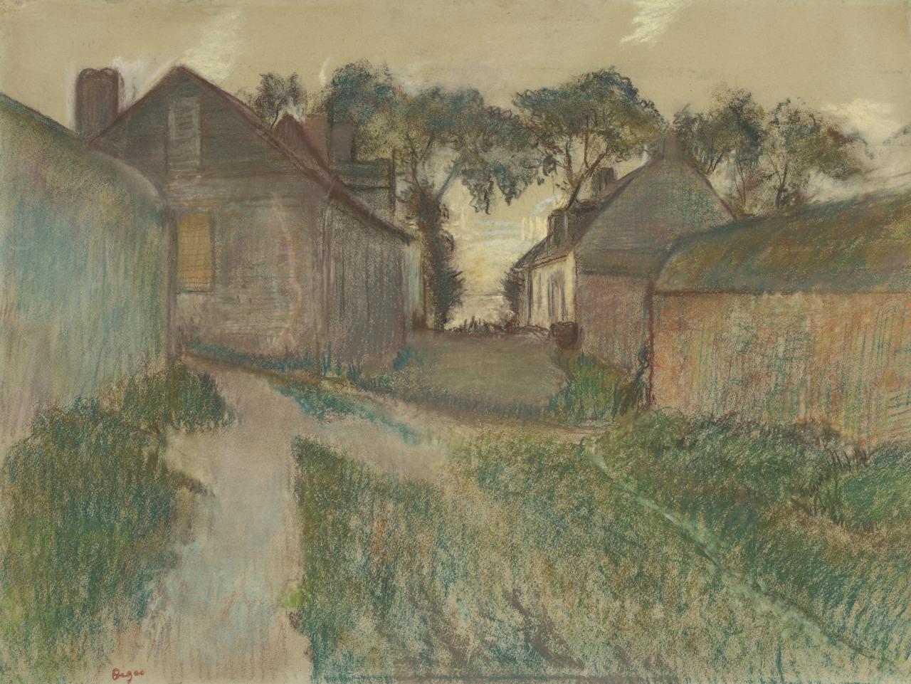 thunderstruck9: Edgar Degas (French, 1834-1917), La Rue Quesnoy, Saint-Valéry-sur-Somme, c.1895-98. Pastel on paper, 48.7 x 64.5 cm.
